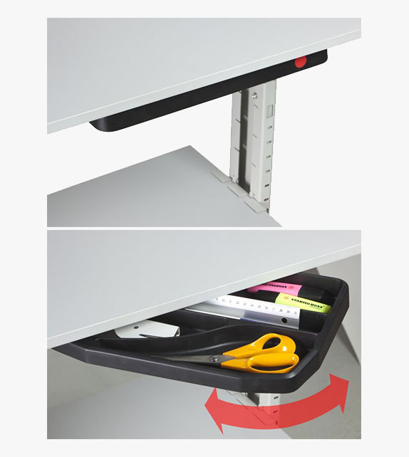 Swivel Stationary Tray (under desk organizer)