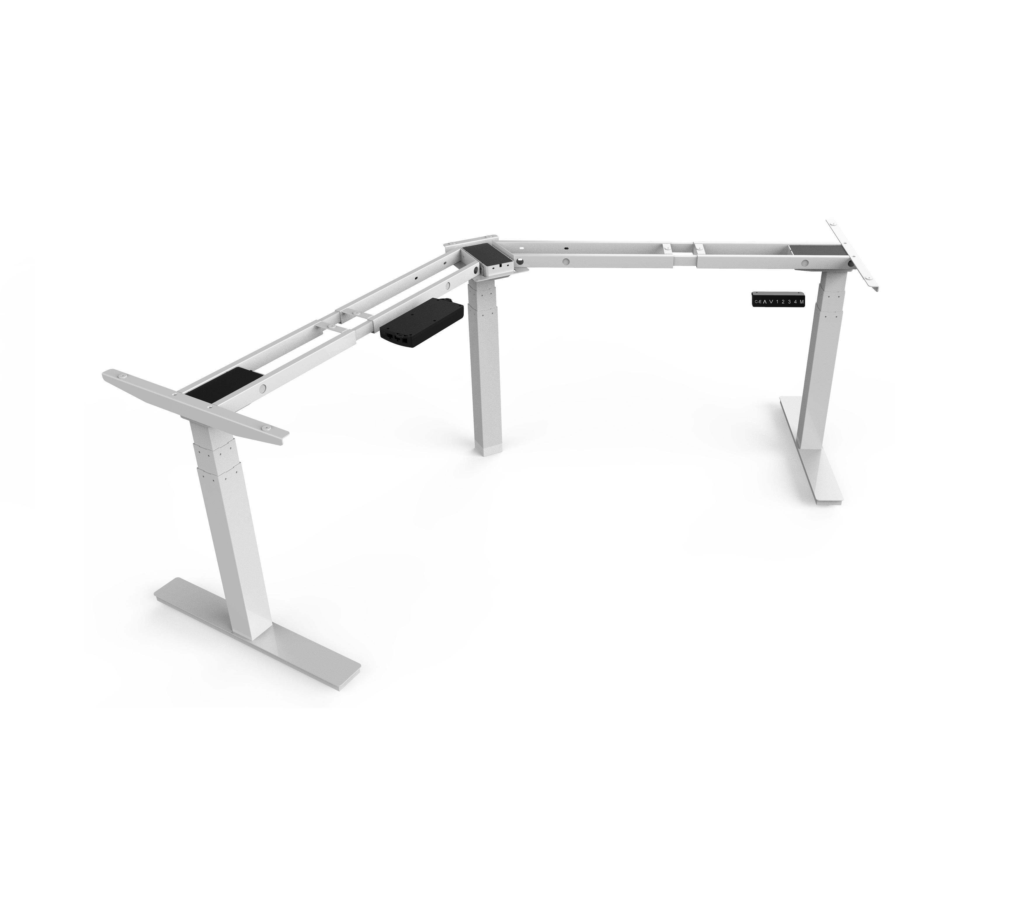 L-shaped Standing Desk with Desktop