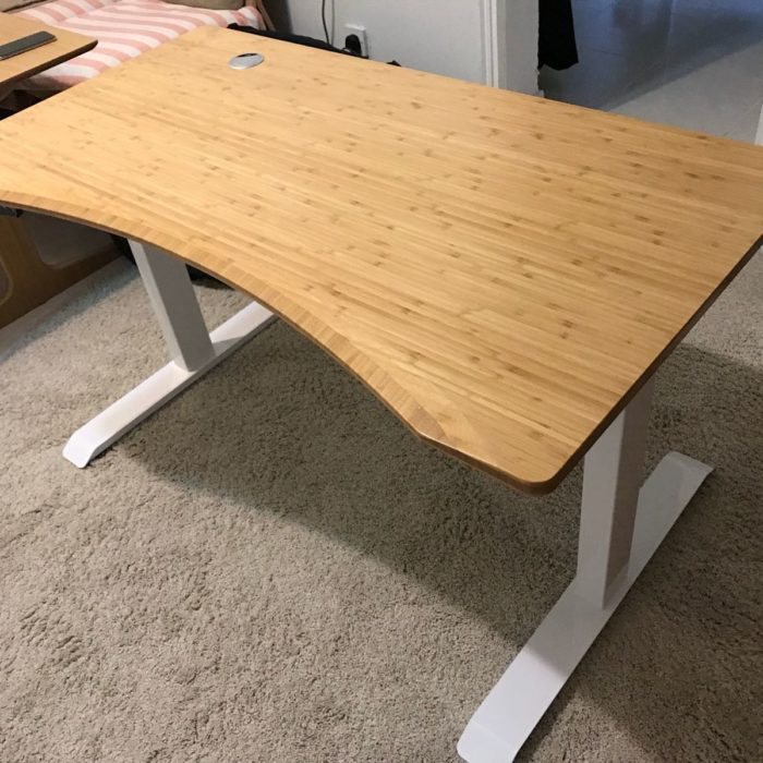 竹板升降桌人體工學升降桌
