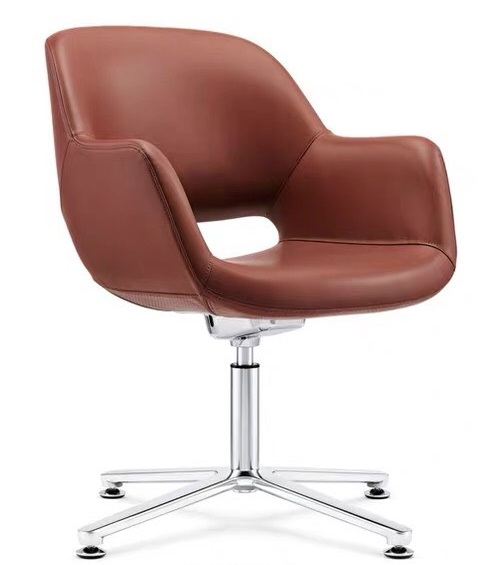 Disk Leather Guest Chair