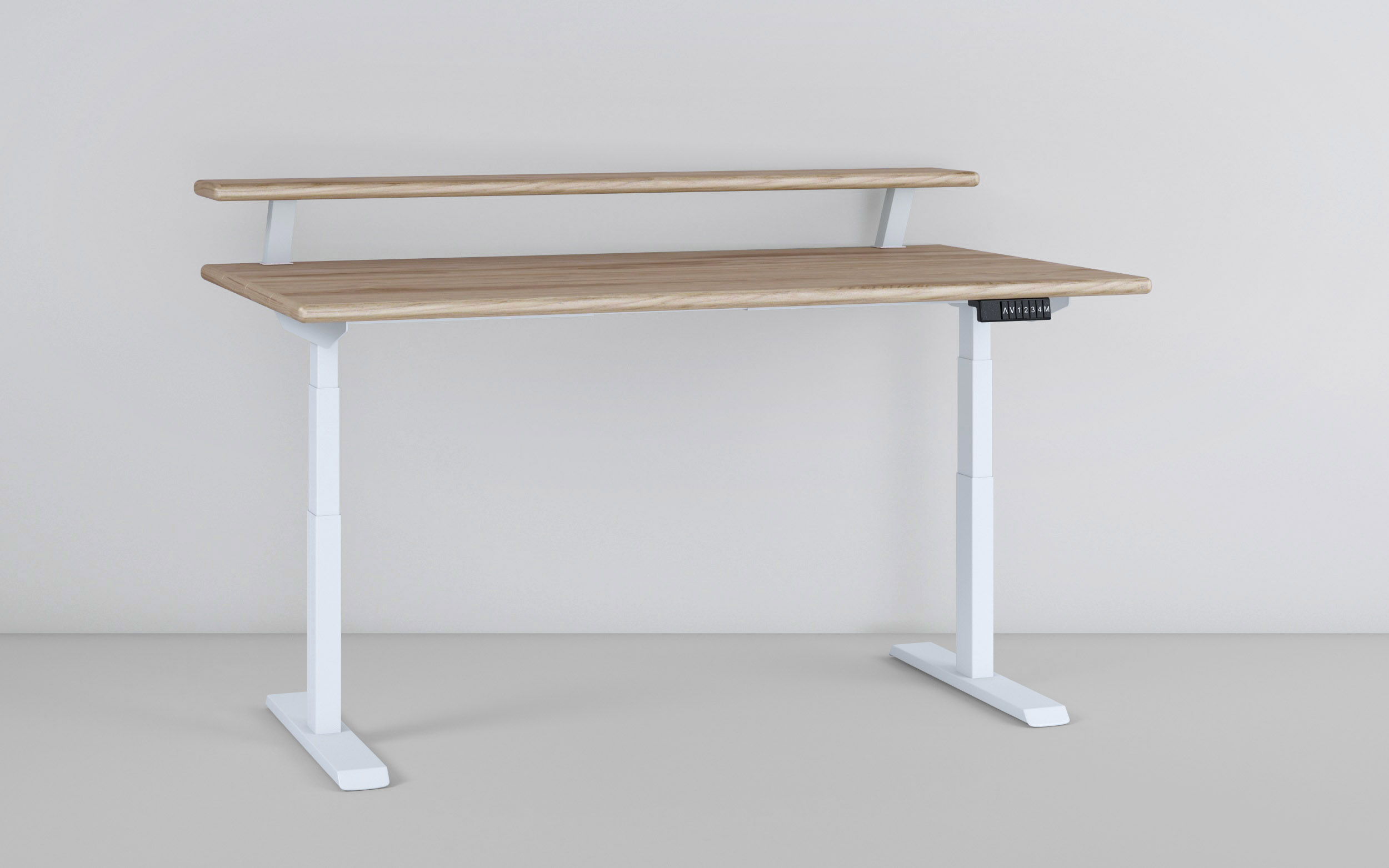 Dual Level Double-Decker Standing Desk