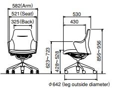 Okamura Lives work chair size