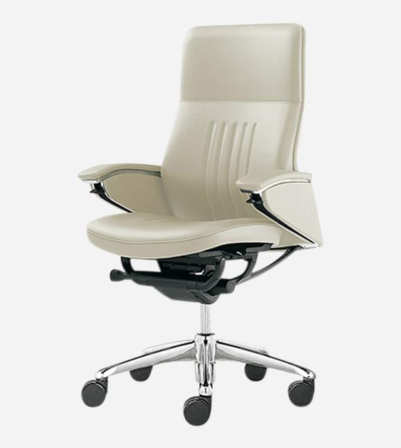 Okamura Legender Full Leather High Back Chair