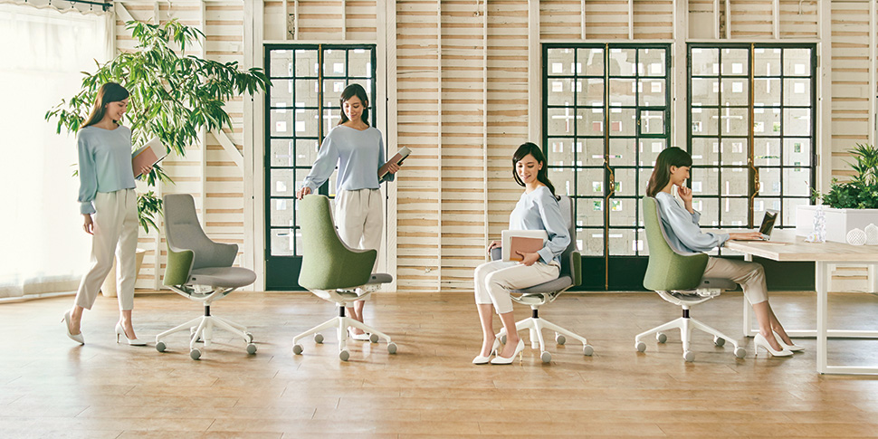 Okamura Lives work chair with low back model