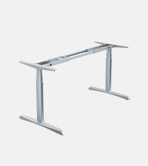 Dual Motored Standing Desk Frame with Elliptical Legs