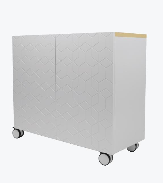 Swing Door Storage Cabinet with design patterns